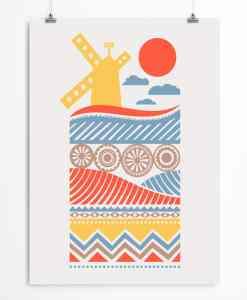 Windmill nursery print