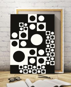 Black and white abstract giclee print vertical