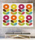 Scandinavian flowers canvas art horizontal