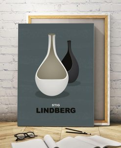 Lindberg vases canvas dark