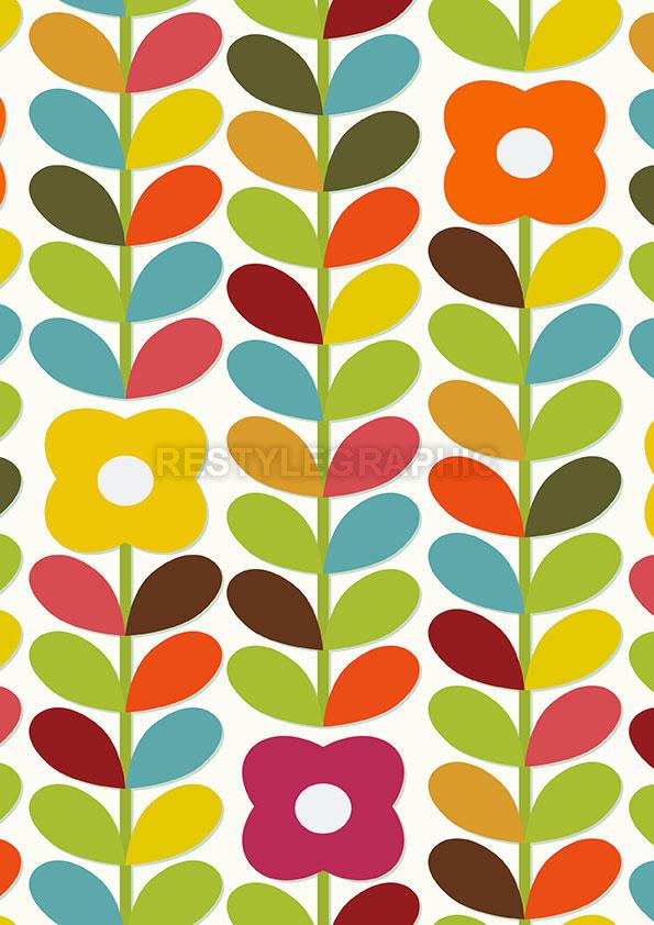 Scandi floral pattern