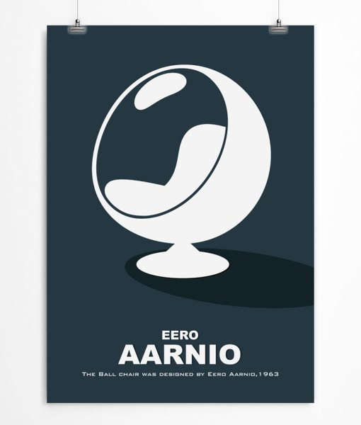 Navy blue Ball Chair poster