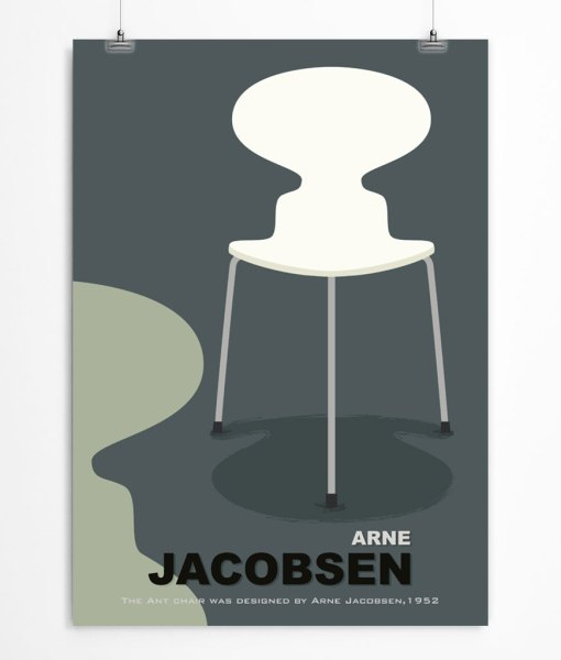 Ant Chair by Jacobsen poster