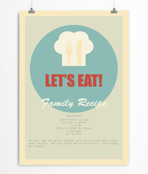 Let's eat poster