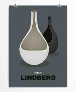 Vases by Lindberg Dark poster