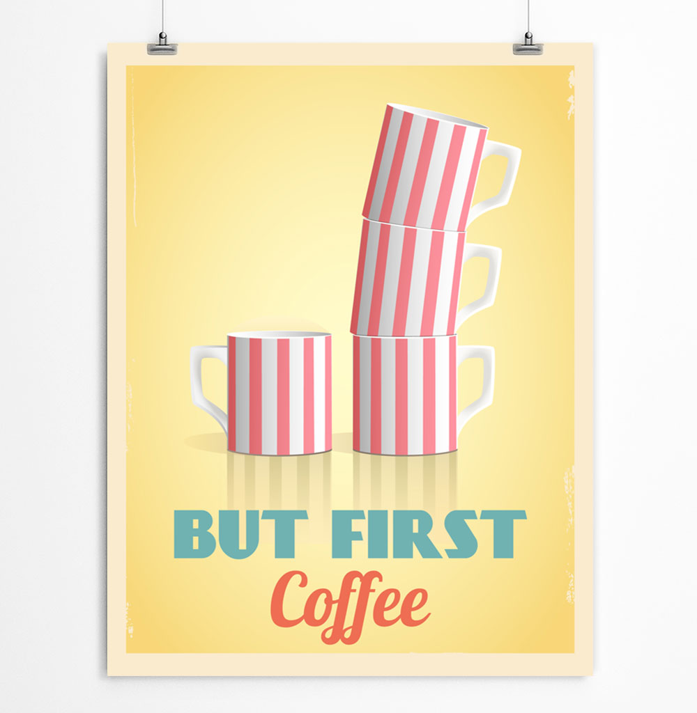 Coffee Cups Printable Poster