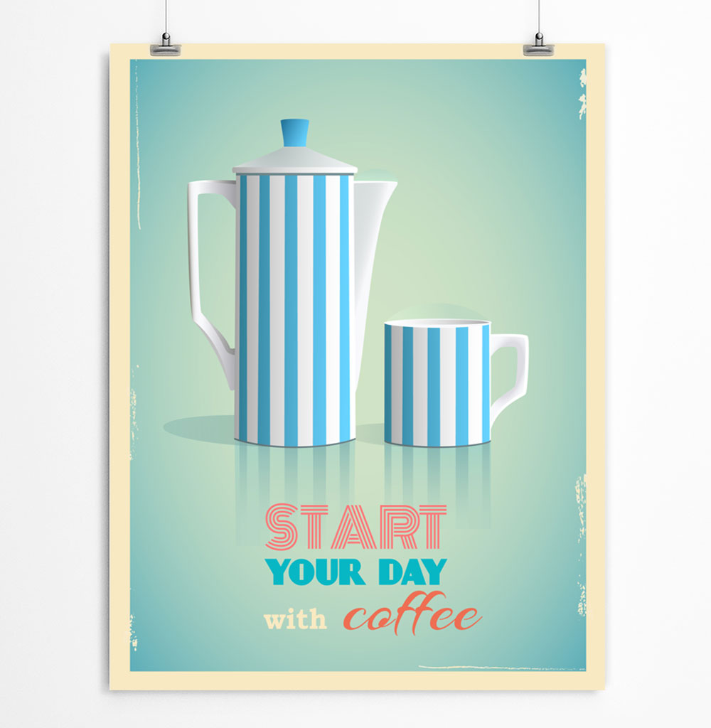 Coffee Pot Printable Poster