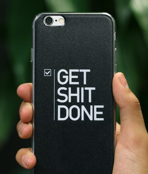 Black matte design for iPhone case