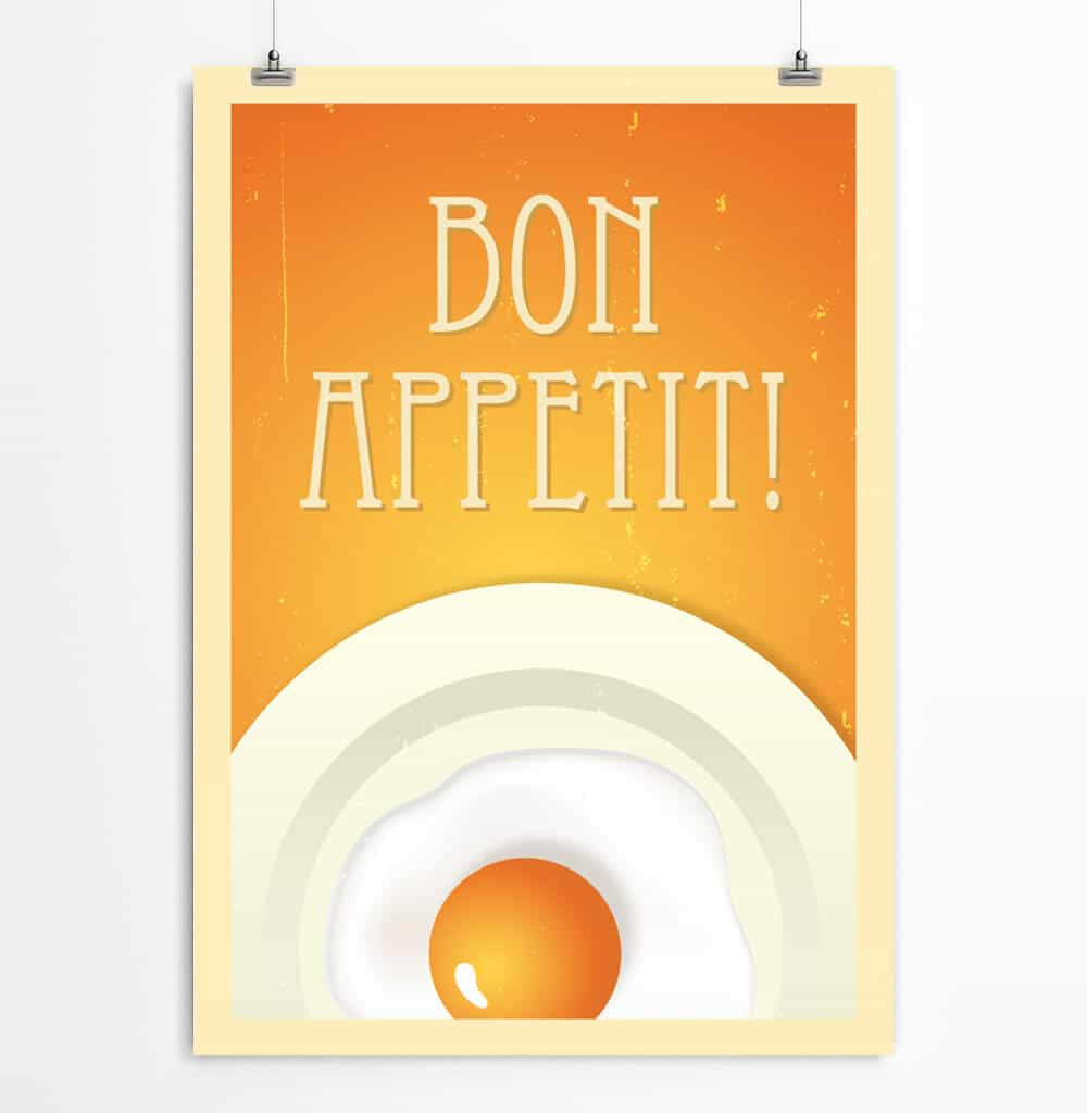 picture relating to Printable Poster named Bon Appe Printable Poster ReStyleGraphic