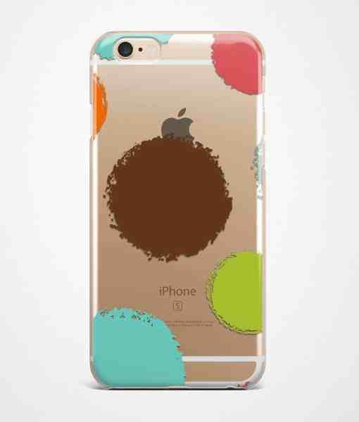 Color dots transparent iPhone case