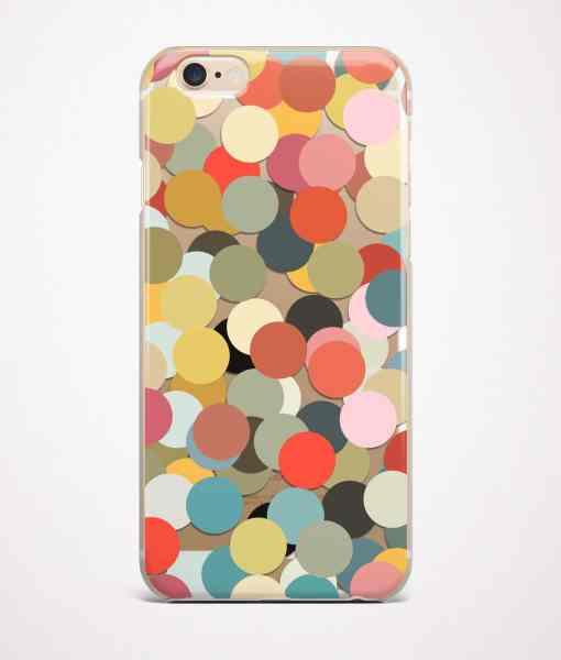 Confetti transparent iPhone case
