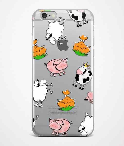Farm animal iPhone case transparent