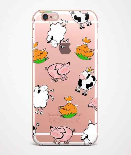 farm phone case transparent pink