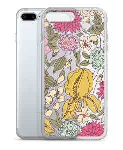 floral sketch color phone 7 plus case