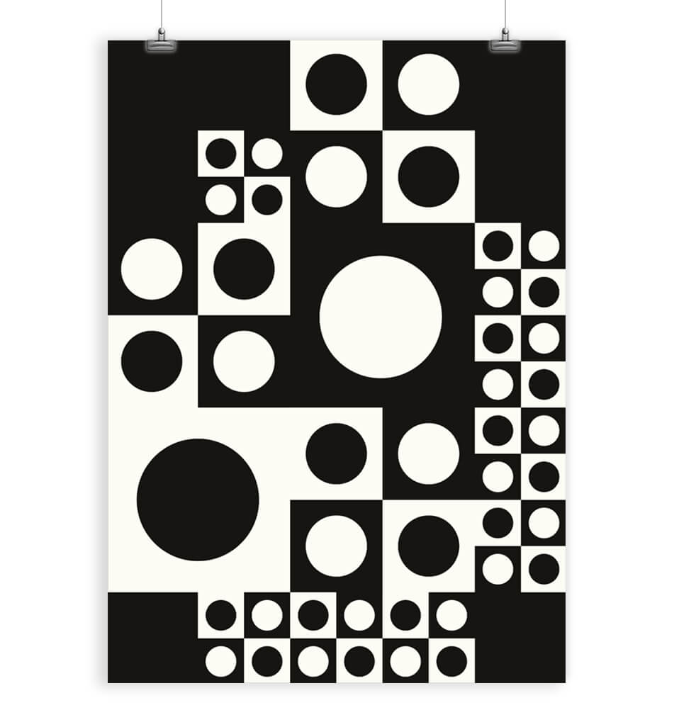 Panton abstract art print