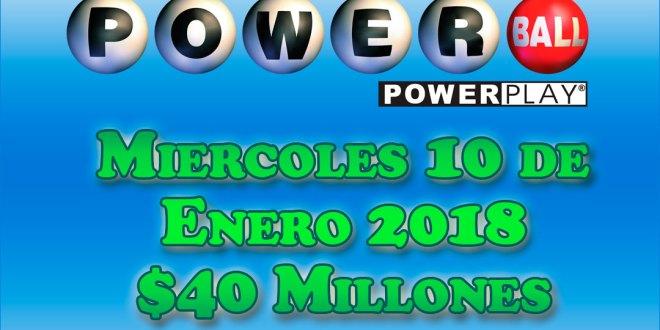 Resultados Powerball 10 Enero 2018