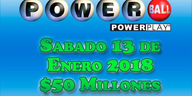 Resultados Powerball Sabado 13 de Enero del 2018
