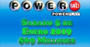 resultados powerball 5 de enero 2019