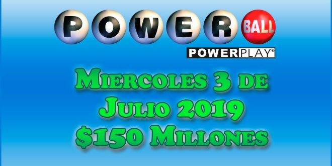 Resultados Powerball 3 de Julio