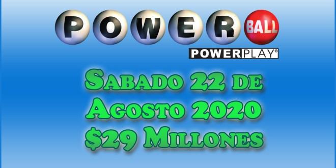 Resultados Powerball 22 de Agosto 2020