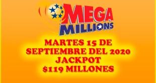 Resultados Mega Millions 15 de Septiembre del 2020 $119 Millones de dolares