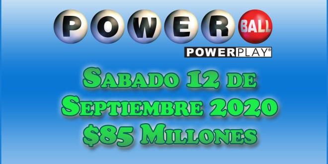Resultados Powerball 12 de Septiembre del 2020 $85 Millones de dolares