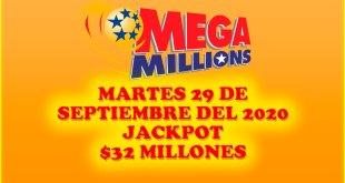 Resultados Mega Millions 29 de Septiembre del 2020 $32 Millones de dolares