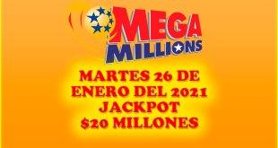 Resultados Mega Millions 26 de Enero del 2021 $20 Millones de dolares