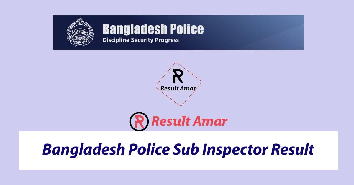 BD Police SI Result