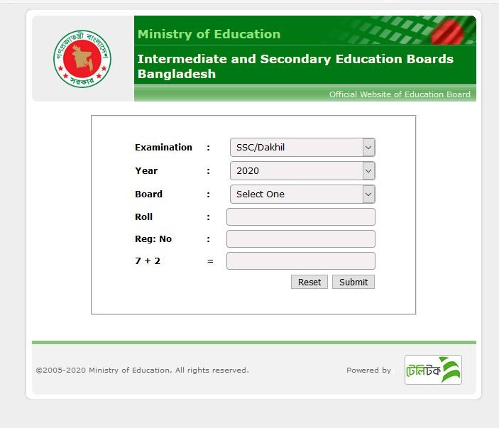 SSC Result 2020 www.educationboardresults.gov.bd