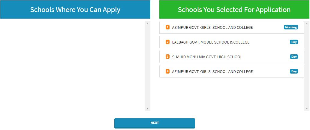 school where you can apply