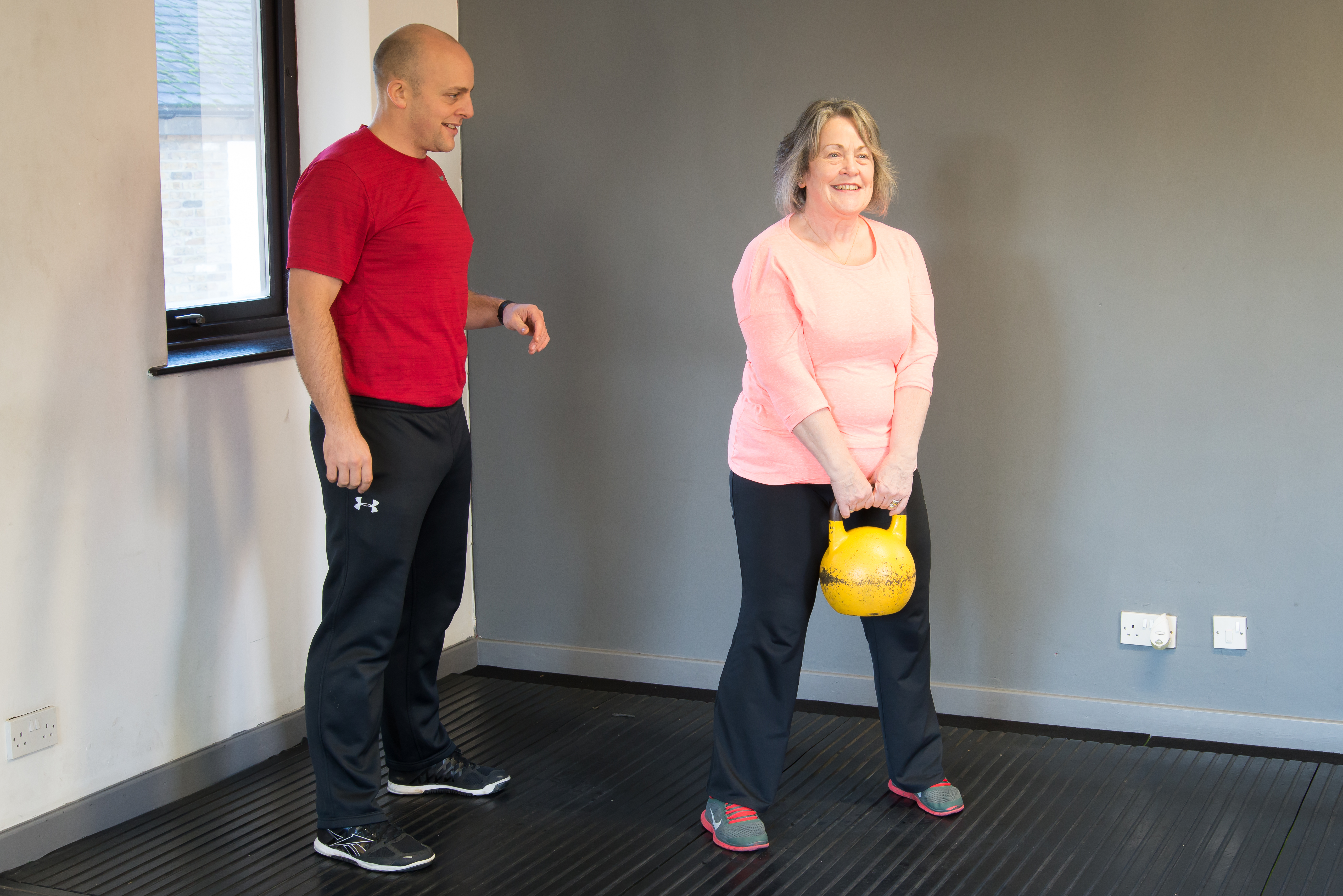 Mum personal training in the gym in Ware