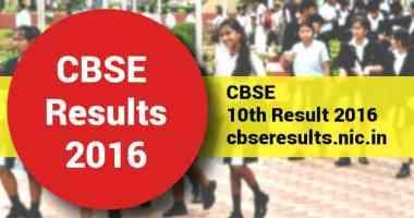 CBSE 10th Class Result 2016