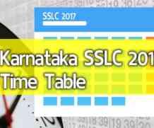 Karnataka SSLC 2017 Time Table – kseeb.kar.nic.in