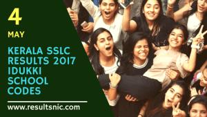 Kerala SSLC School Wise results Idukki District