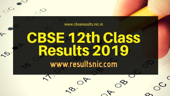 CBSE 12th Class Results 2019