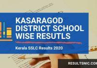 Kerala SSLC School wise Results Kasargod district