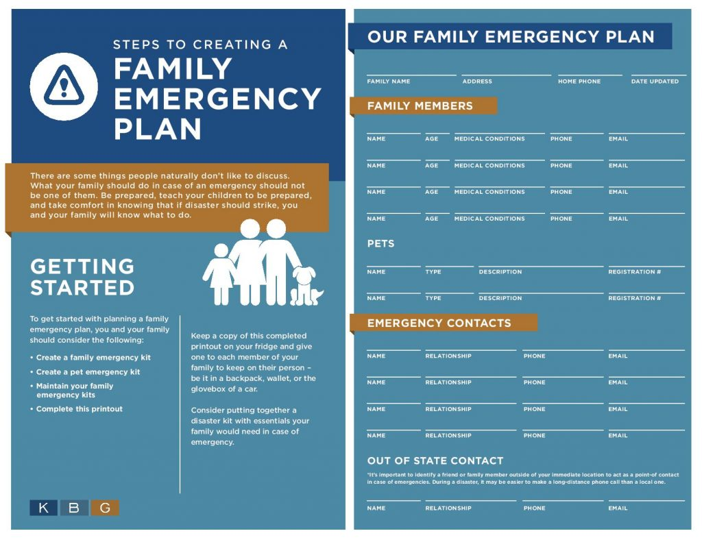 Steps To Creating A Family Emergency Plan