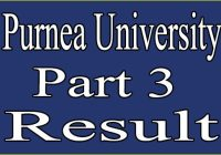 Purnea University Part 3 Result 2020