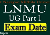 LNMU Part 1 Exam Date 2020 PDF Download