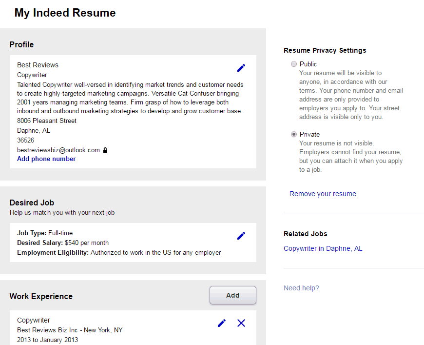 Where can i find a resume online?