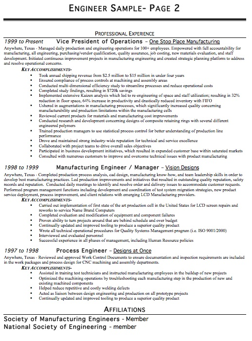 Mechanical Engineer Resume Example. Entry Level Mechanical