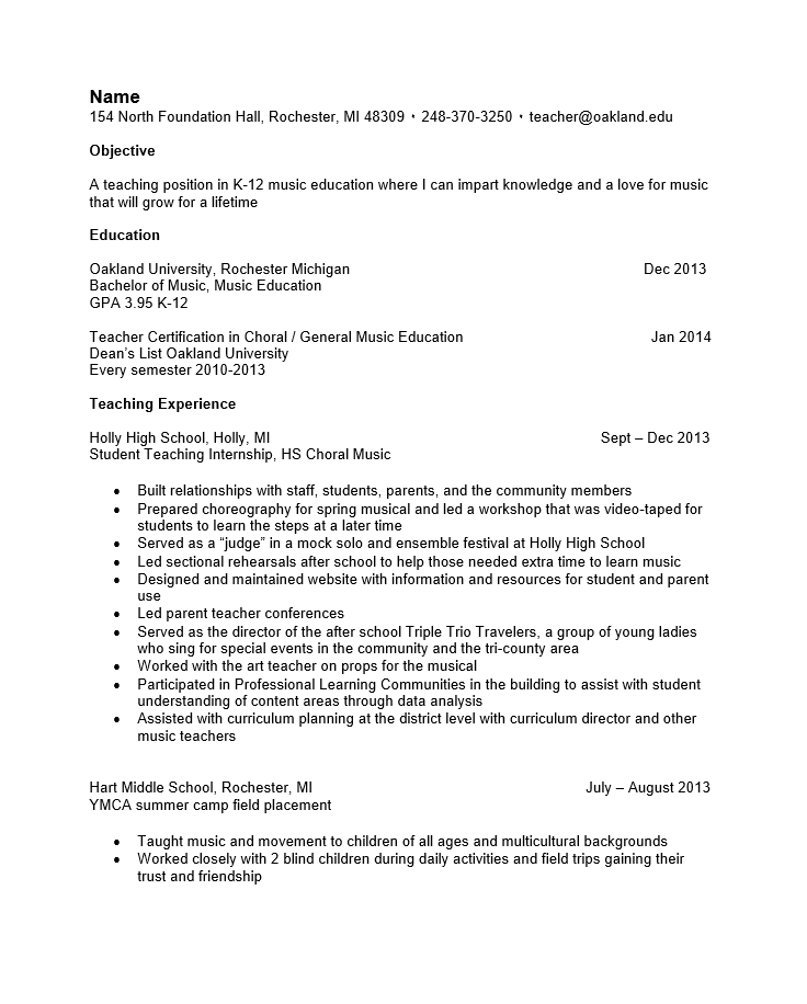 Resume for airline industry