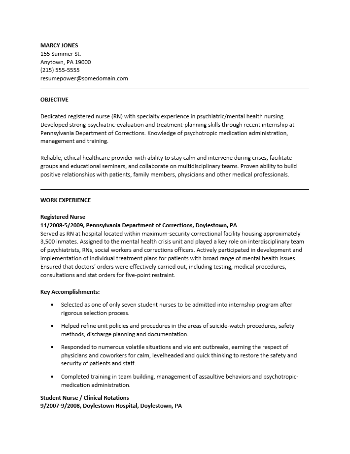Rn Resume Template Free. Nurse Resume Example Rn Resume Nursing Cv