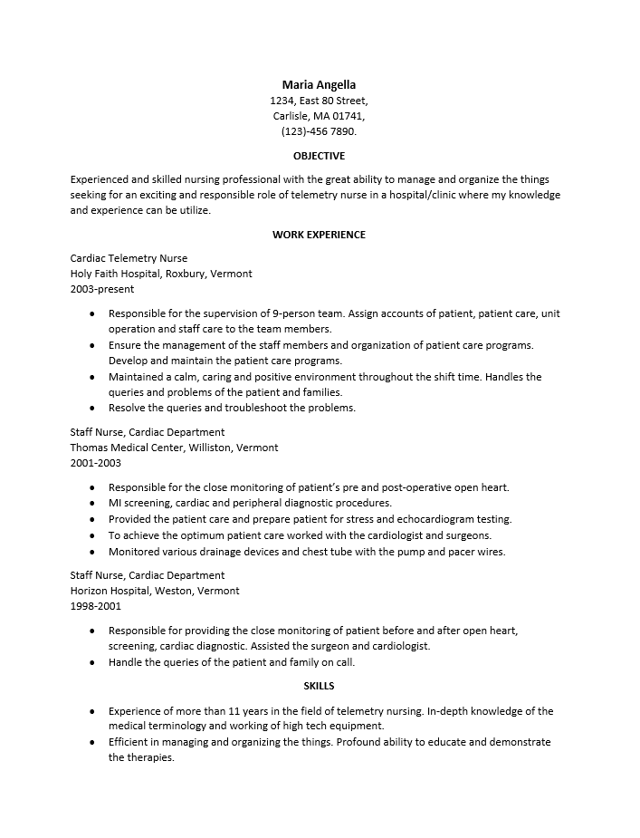 Resume Rn Examples. 11 Good Rn Resume Samples Easy Resume Samples