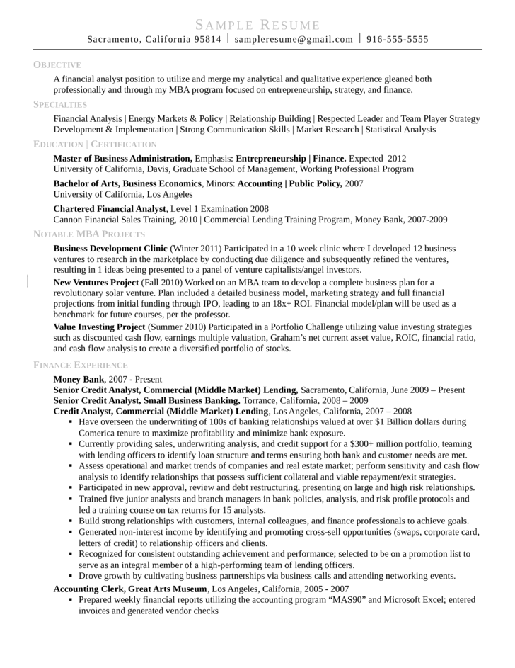best business resume sample resume examples student resume analyst