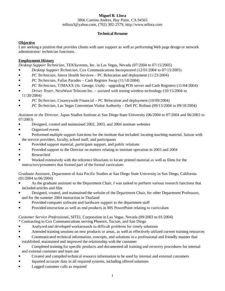 resume samples desktop support technician resume resume desktop