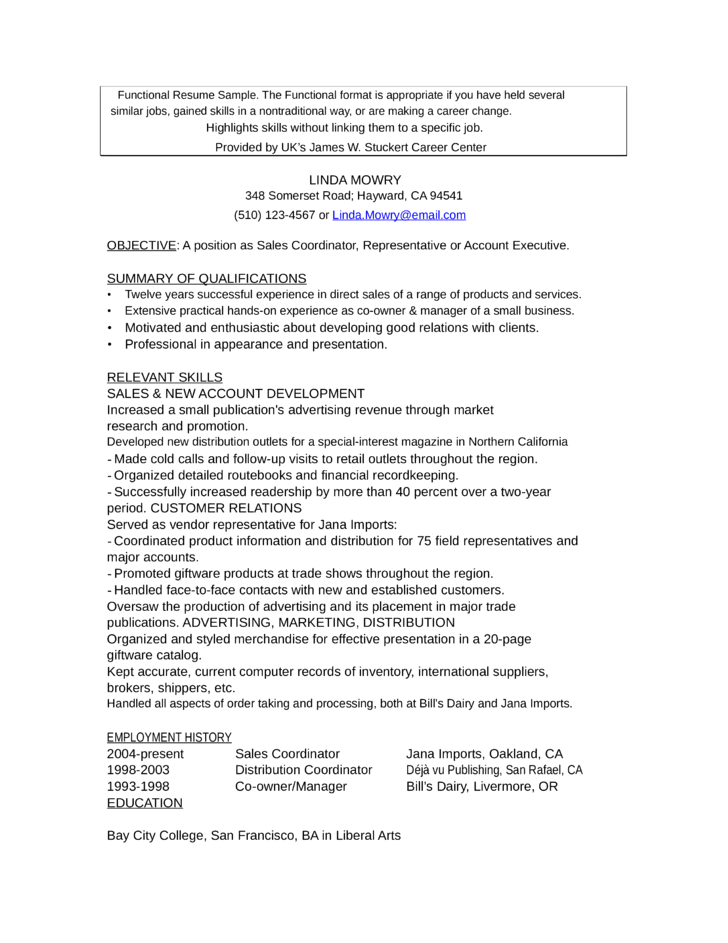 administrative functional resume hybrid resume template accountant