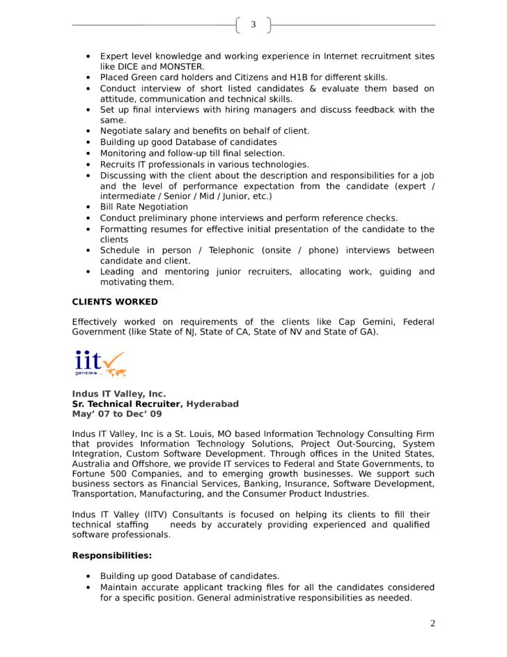 professional template page 2 nurse recruiter resume