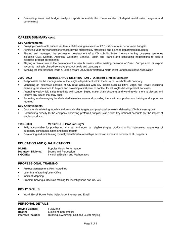 Telemarketing Resume Sample Professional Telemarketer